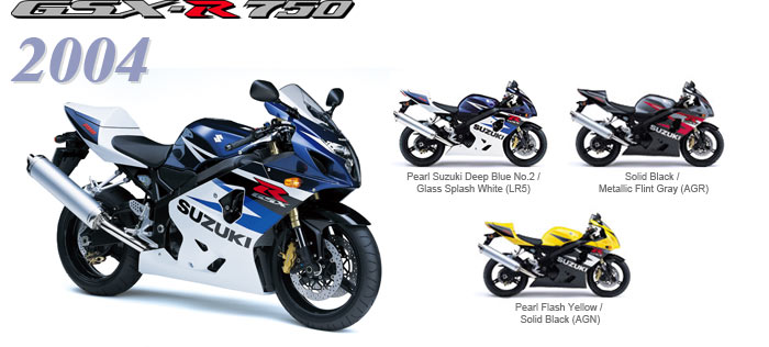 History Gsx R750 4rd Generation 2000 2005 New